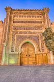 Imperial City door at Meknes, Morocco Royalty Free Stock Photo