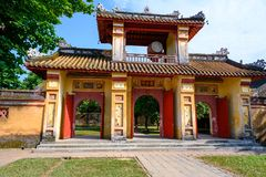 Imperial City Hue, Vietnam Gate of the Forbidden City of Hue. Gate of the Imperial City. The gate is part of a walled enclosure within the citadel of the city stock photography