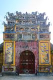 Imperial City Hue, Vietnam. Gate of the Forbidden City of Hue. Unrestored ancient Gate of the Imperial City. The gate is part of a walled enclosure within the stock photos