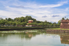 Imperial City in Hue, Vietnam. This photo is taken in Hue Old Capital.  The Imperial City Vietnamese: Hoàng thành is a walled palace within the citadel Kinh th Stock Photo