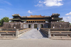 Imperial City in Hue, Vietnam. This photo is taken in Hue Old Capital.  The Imperial City Vietnamese: Hoàng thành is a walled palace within the citadel Kinh th Stock Image