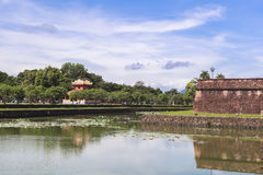 Imperial City in Hue, Vietnam. This photo is taken in Hue Old Capital.  The Imperial City Vietnamese: Hoàng thành is a walled palace within the citadel Kinh th Royalty Free Stock Photography