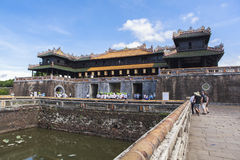 Imperial City in Hue, Vietnam. This photo is taken in Hue Old Capital.  The Imperial City Vietnamese: Hoàng thành is a walled palace within the citadel Kinh th Stock Images
