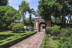 Imperial City in Hue, Vietnam. This photo is taken in Hue Old Capital.  The Imperial City Vietnamese: Hoàng thành is a walled palace within the citadel Kinh th Royalty Free Stock Photo