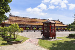 Imperial City in Hue, Vietnam. This photo is taken in Hue Old Capital.  The Imperial City Vietnamese: Hoàng thành is a walled palace within the citadel Kinh th Royalty Free Stock Image
