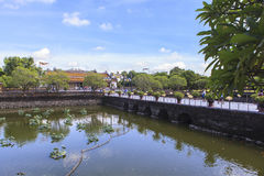 Imperial City in Hue, Vietnam. This photo is taken in Hue Old Capital.  The Imperial City Vietnamese: Hoàng thành is a walled palace within the citadel Kinh th Stock Photos