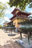 Imperial City in Hue, Vietnam. This photo is taken in Hue Old Capital.  The Imperial City Vietnamese: Hoàng thành is a walled palace within the citadel Kinh th Royalty Free Stock Images