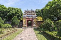 Imperial City in Hue, Vietnam. This photo is taken in Hue Old Capital.  The Imperial City Vietnamese: Hoàng thành is a walled palace within the citadel Kinh th Stock Photography