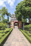 Imperial City in Hue, Vietnam. This photo is taken in Hue Old Capital.  The Imperial City Vietnamese: Hoàng thành is a walled palace within the citadel Kinh th Royalty Free Stock Photos