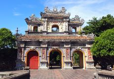 Imperial City Old Castle in Hue Vietnam. Hien Nhon Gate of Imperial City Forbidden City Old Castle built in 1362 in Hue Vietnam. This is one of the entrances of stock photography
