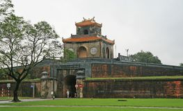 Entrance to the Citadel in Hue stock image