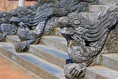 Dragon Stair In Hue Imperial City, Vietnam UNESCO World Heritage. The Imperial City is a walled palace within the citadel of the city of Hue, the former imperial Royalty Free Stock Photography