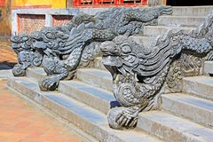 Dragon Stair In Hue Imperial City, Vietnam UNESCO World Heritage stock photography