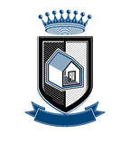 Imperial coat of arms, royal house conceptual symbol. Royalty Free Stock Photo