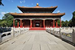 The Imperial College`s Biyong Palace stock photography