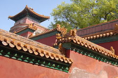 Imperial Corner. Beijing Forbidden City of ancient emperors living in a corner Stock Photography