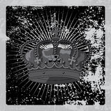 The imperial crown grunge poster. Vector Royalty Free Stock Photos