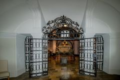 The Imperial Crypt at New Market in Vienna Austria. The Imperial Crypt, also called the Capuchin Crypt, is a burial place of the Habsburgs in Vienna stock images
