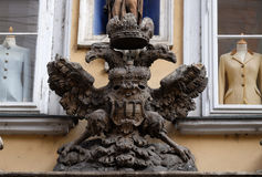 Imperial eagle emblem in Graz Stock Photography