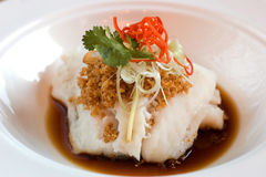 Imperial fillet of cod in light soy sauce Stock Photo