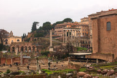 Imperial Fora, Temple of Peace in  Rome Stock Images