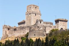 The imperial fortress Rocca Maggiore Stock Photos