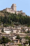 The imperial fortress Rocca Maggiore Stock Images