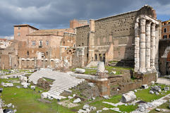 Imperial forum of Emperor Augustus. Rome, Italy Stock Photography