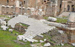 Imperial forum of Emperor Augustus. Rome, Italy Stock Photos