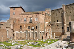 Imperial forum of Emperor Augustus. Rome, Italy Royalty Free Stock Images