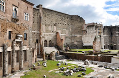Imperial forum of Emperor Augustus. Rome, Italy Stock Images