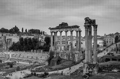 The Imperial Forum in Rome, Italy Royalty Free Stock Photos