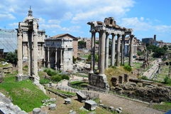 Imperial forum rome italy Royalty Free Stock Photos