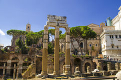 Imperial Forum in Rome Stock Images