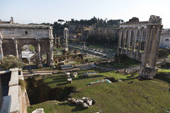 Imperial Forums. View of the Imperial Forums (Fori Imperiali) in Rome, Italy Stock Images