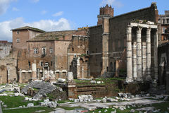The Imperial Forums in Rome Stock Photo