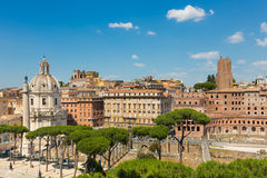 Imperial Forums in Rome, Italy. Royalty Free Stock Photo