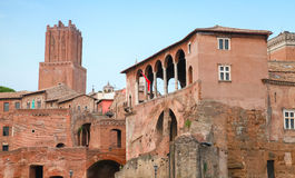 Imperial forums in Rome Italy, popular landmark Royalty Free Stock Images