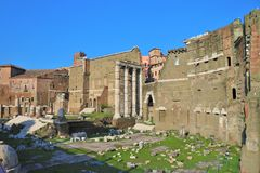 Imperial Forums, Rome, Italy. stock photos