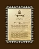 Imperial framework decorative vintage Stock Photo