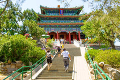 Imperial garden. Beijing, China at the Forbidden City.  stock images