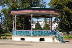 Imperial Gardens Bandstand, Cheltenham. Stock Photography
