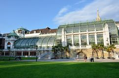 Imperial greenhouses in Vienna Stock Photo