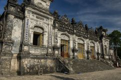 Imperial Khai Dinh Tomb in Hue. Vietnam royalty free stock images