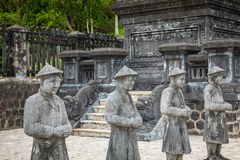 Imperial Khai Dinh Tomb in Hue, Vietnam. A UNESCO World Heritage. Site stock photography