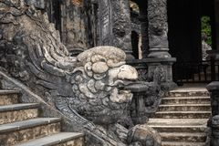 Imperial Khai Dinh Tomb in Hue, Vietnam. A UNESCO World Heritage. Site royalty free stock images