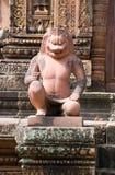 Imperial Lion guardian statue, Angkor, Cambodia stock photos