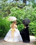 Imperial maneuvers - ladies Royalty Free Stock Image