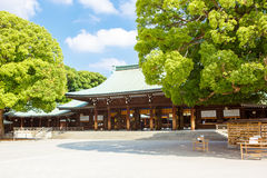 Imperial Meiji Shrine in Shibuya, Tokyo, Japan. Imperial Meiji Shrine located in Shibuya, Tokyo shrine that is dedicated to the deified spirits of Emperor Meiji royalty free stock photo