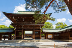 Imperial Meiji Shrine in Shibuya, Tokyo, Japan. Imperial Meiji Shrine located in Shibuya, Tokyo shrine that is dedicated to the deified spirits of Emperor Meiji royalty free stock photos